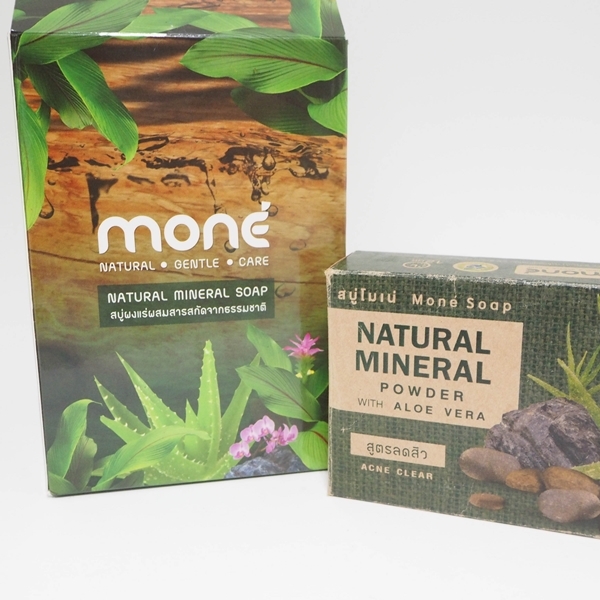 Mone Natural Mineral Powder with AloeVera Soap #Acne Clear