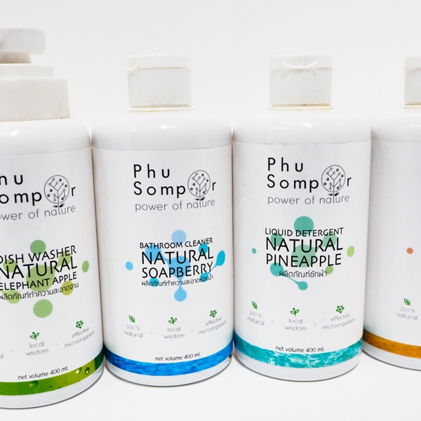 Phu Sompor Natural Household  Products (Liquid Detergent ,  Dish Washer