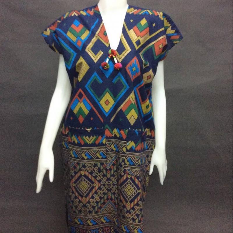 Lanna print dress